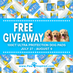 Enter to WIN 100 Free Ultra Protection Training Pads ! - PawInspired