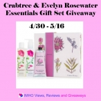 Crabtree & Evelyn Rosewater Essentials Gift Set Giveaway ends 5/16 - IMHO Views, Reviews and Giveaways & Hints and Tips Blog