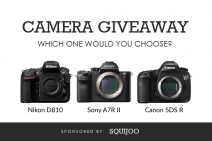 Win a Canon 5DS R Nikon D810 or Sony A7R II camera - Squijoo